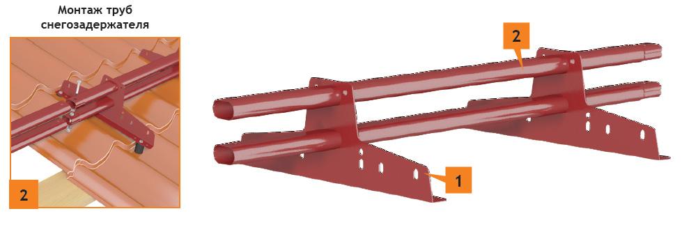 инструкция по монтажу трубчатых снегозадержателей - фото 2