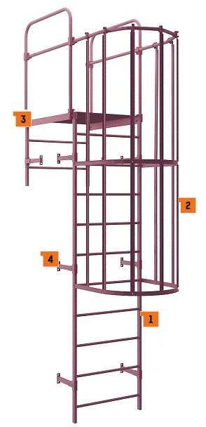 Пожарная лестница типа П1-2