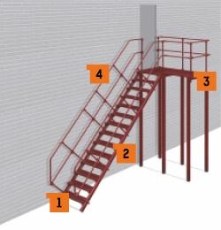 Пожарная лестница типа П 2
