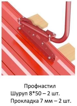 Профнастил Шуруп 8*50 – 2 шт. Прокладка 7 мм – 2 шт.