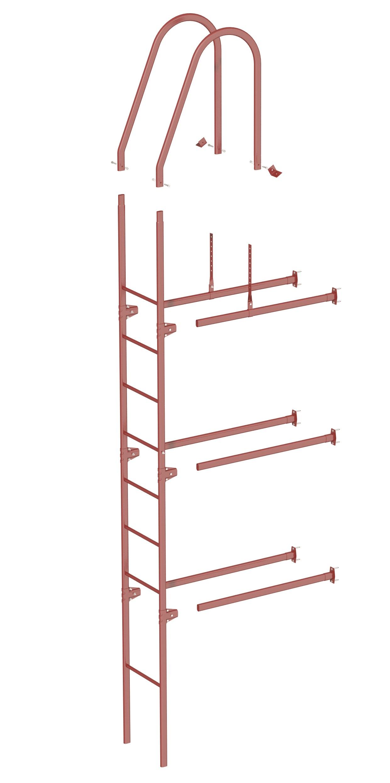 комплектация фасадной лестницы