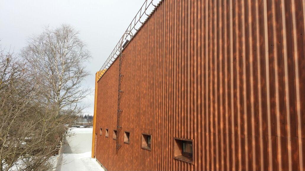 кровельное ограждение, фасадные лестницы, вид 2